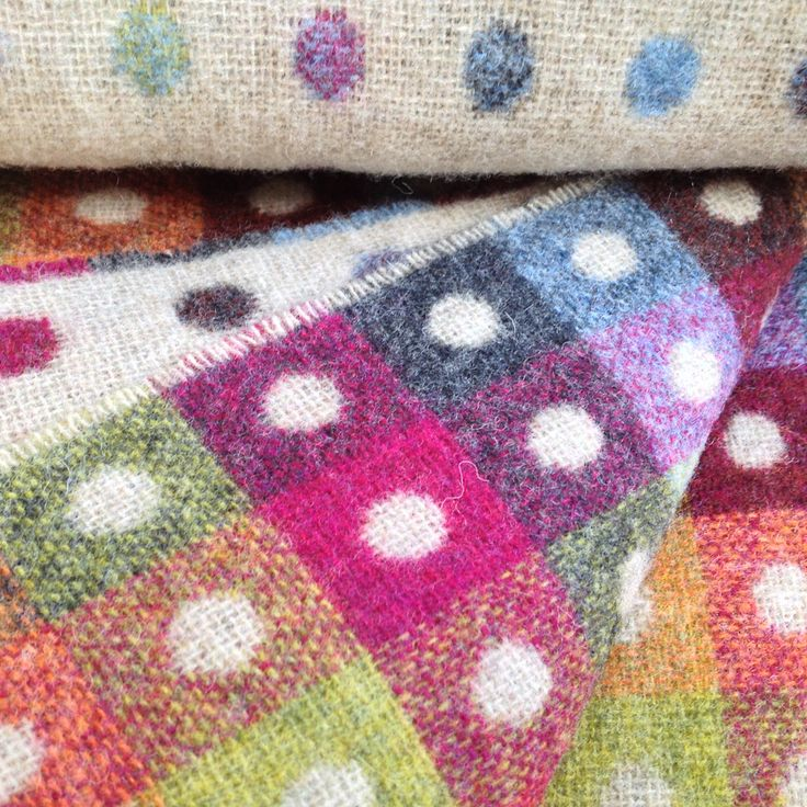 Multi Colour Polka Dot Throw