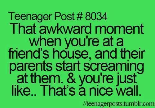 It's so awkward when this happens. And yet it was also hilarious watching it and not being a part of it.