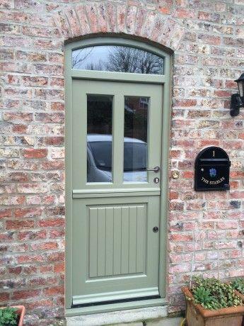 French Grey stable door with Samuel Heath ironmongery