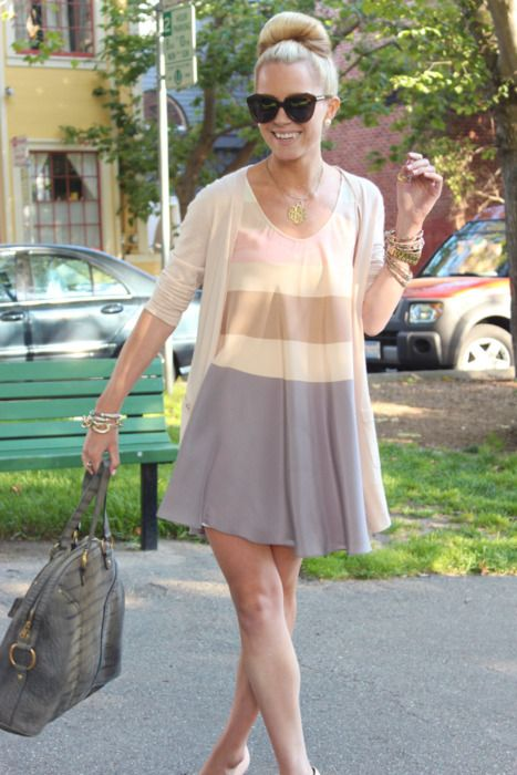 classy look: Atlantic Pacific, Pastel, Fashion, Style, Color, Clothes, Dresses, Outfit, Hair