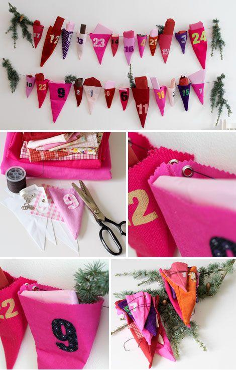 Sweet fabric cones calendar by Cirkus.  Via Plenty of Colour.
