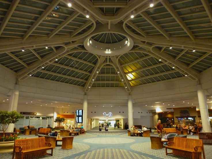 Orlando International Airport  Terminal Atrium.  www.traveladept.com