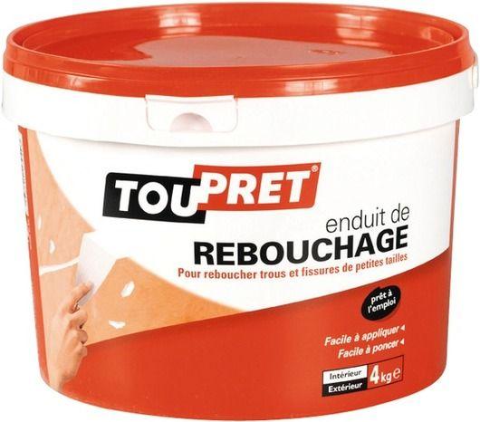 Chantier n°3 - Je rénove mes murs // Enduit de Rebouchage - TOUPRET  Excellente adhérence.
