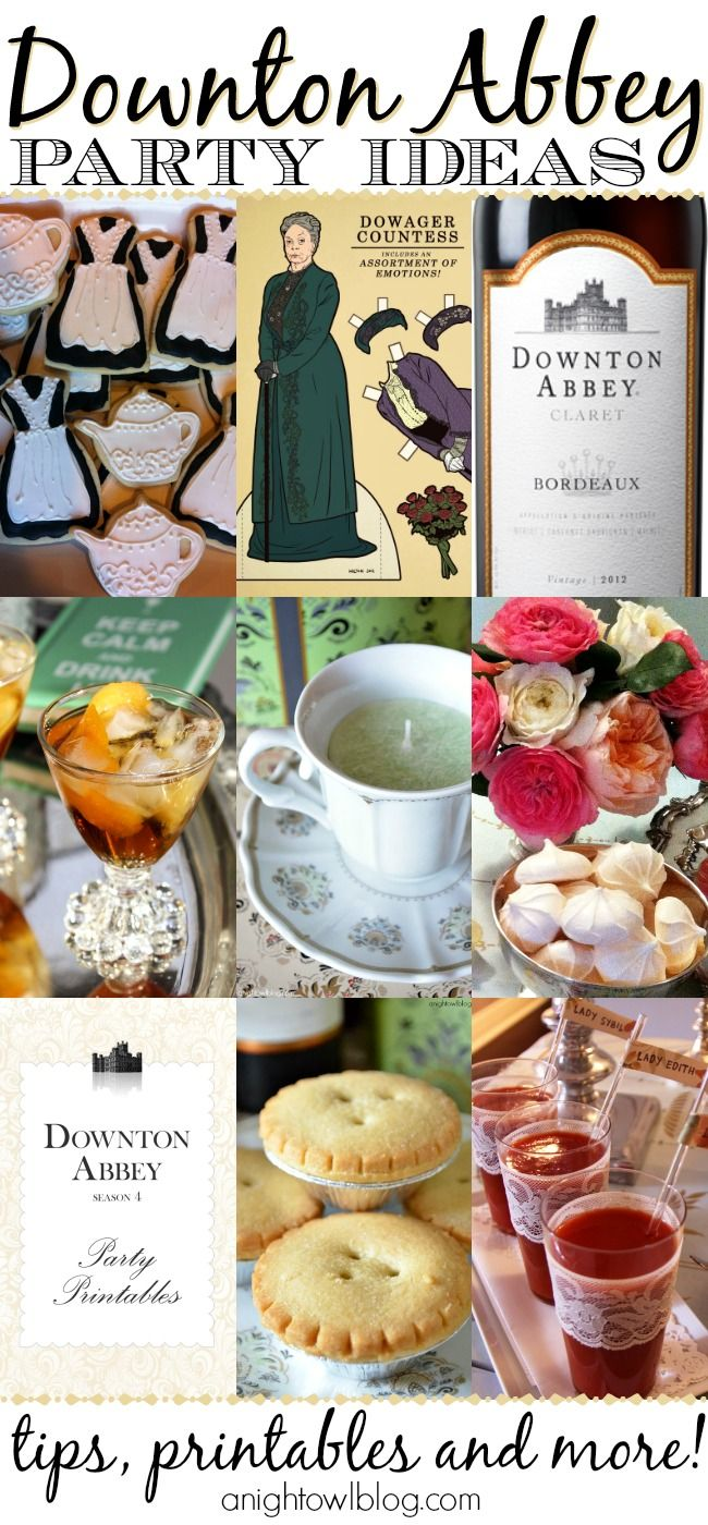 TONS of fun Downton Abbey Party Ideas to throw your own premiere or viewing party this season!