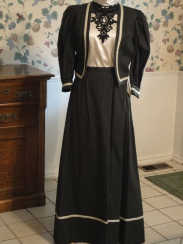 Titanic Style Dresses & Costumes for Sale Edwardian Jacket Skirt Ensemble Dickens Steampunk  $97.95 AT vintagedancer.com