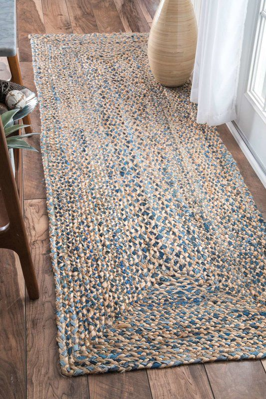 Destrie Hand Braided Denim Blue Area Rug New Home Ideas