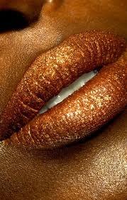 copper toned lipstick