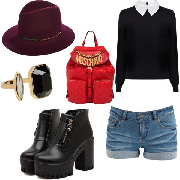 Treinta y nueve by carla-ng on Polyvore featuring moda, Carven, Pieces, Dr. Martens, Moschino and Janessa Leone