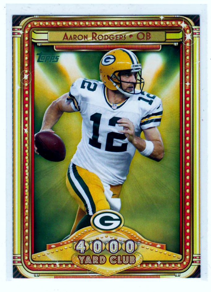 Sports Cards Football – 2015 Panini Prizm Draft Picks/2013 Topps (4000 Yard Club) Aaron Rodgers