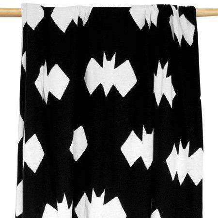 Burrow and Be Geo Bat Blanket, Bat Blanket, Burrow and Be Bat Blanket, Batman Blanket, Geo Blanket, Burrow and Be Bat Blanket Stockist