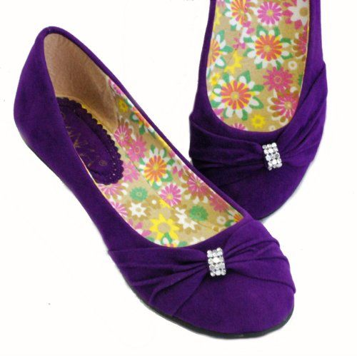 Jr Bridesmaid Amazon.com: Lily-31 Ballet Flats Jewel Evening Low Heel (6.5, Purple): Shoes