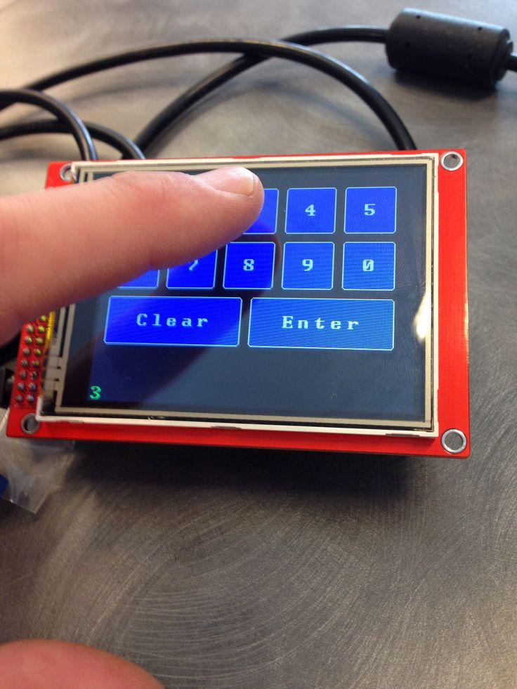 Arduino mega touch interface :P