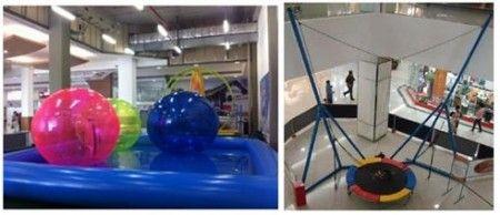 O Shopping Butantã preparou diversas atrações para toda a família. A temporada começa com a Orbit Water Ball e com o Bunge Trampolim.