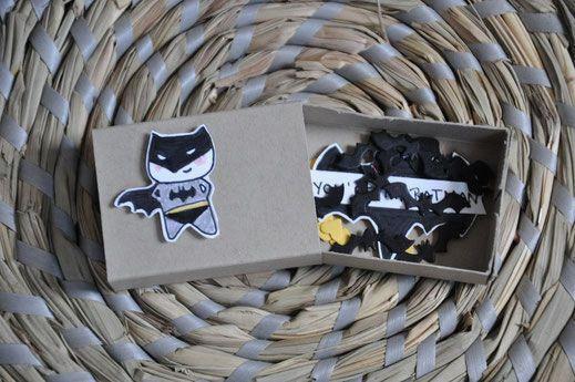 Stampin Up! beim ZettelZirkus: Batman, Streichholzschachtel, In Liebe, Fledermäuse, Herzen,
