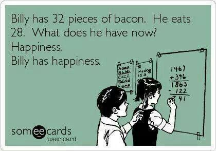 Happiness, of course. AND, he still has 4 more pieces of bacon to savor. - Get the awesome limited edition Bacon Lover's t-shirt while it's still available! http://teespring.com/icanhazawesome