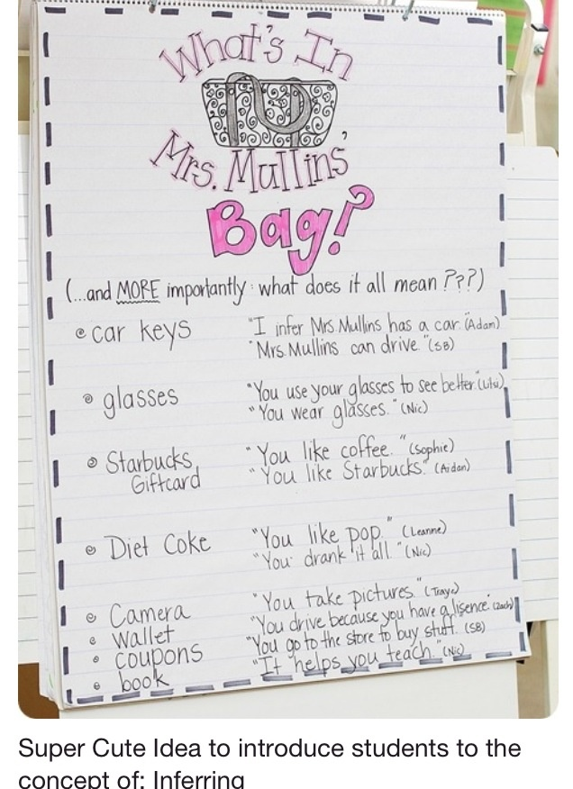 Stuff a bag full of things and infer!