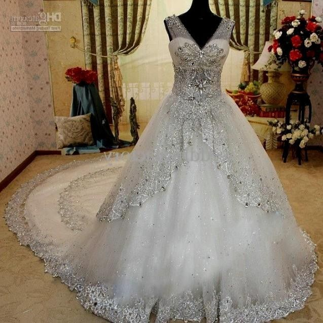 Most Beautiful Ball Gown Wedding Dresses: Bling Princess Ball Gown Wedding Dresses World Dresses In