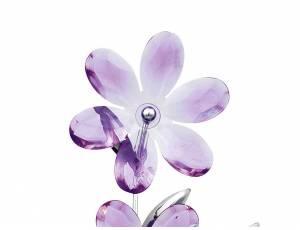Purple 6 lampada da tavolo- Lampada da tavolo con struttura in acciaio cromato e fiori in acrilico. Si raccomanda l'utilizzo di lampadine a risparmio energetico.