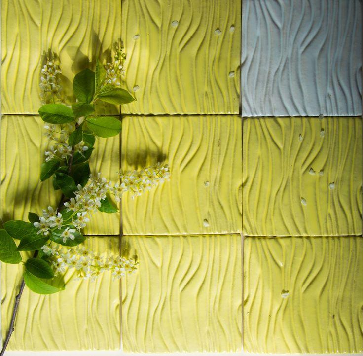 """Керамическая плитка ручной работы """"рельеф дерево"""" Handemade Tile terrain tree."""