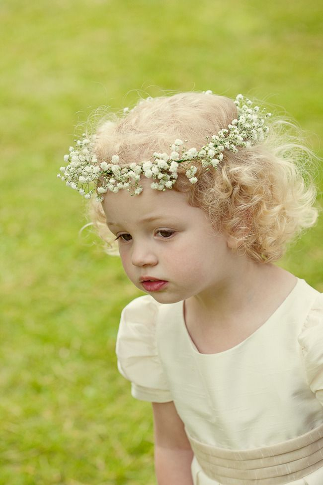 #babysbreath #flowergirl Photography: Marianne Taylor Photography - mariannetaylorphotography.co.uk Read More: http://stylemepretty.com/2013/10/11/english-garden-wedding-from-marianne-taylor-photography/