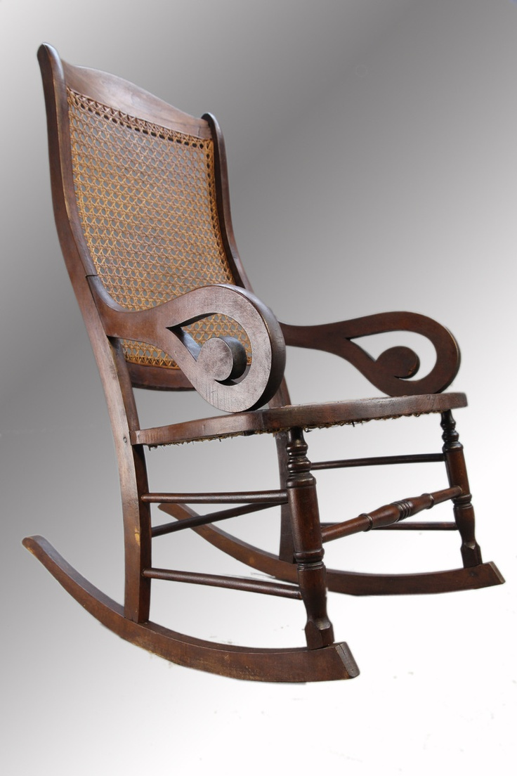 Antique Gooseneck Lincoln Rocker Rocking chair on Bonanza.com  For ...