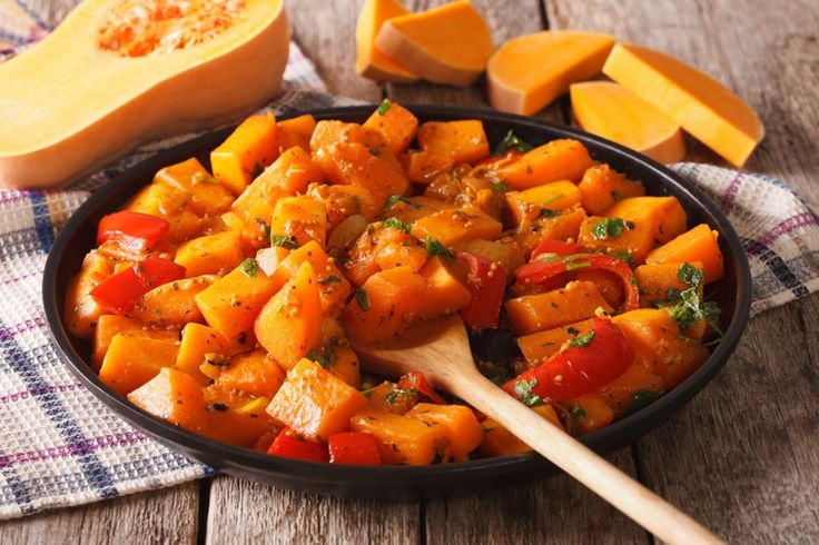 Zucca e peperoni al forno