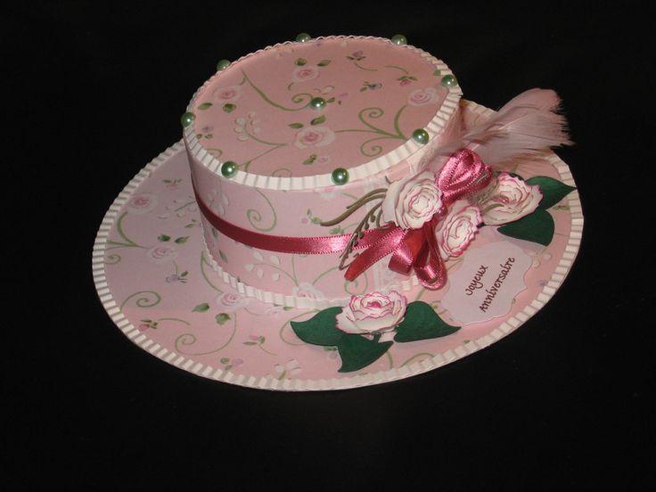 une boite un tuto chapeau scrap pinterest boite tuto et chapeaux en papier. Black Bedroom Furniture Sets. Home Design Ideas
