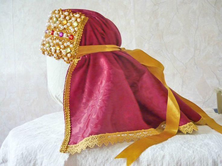 Сшить повойник.Povoinik=worn around the head by married 000