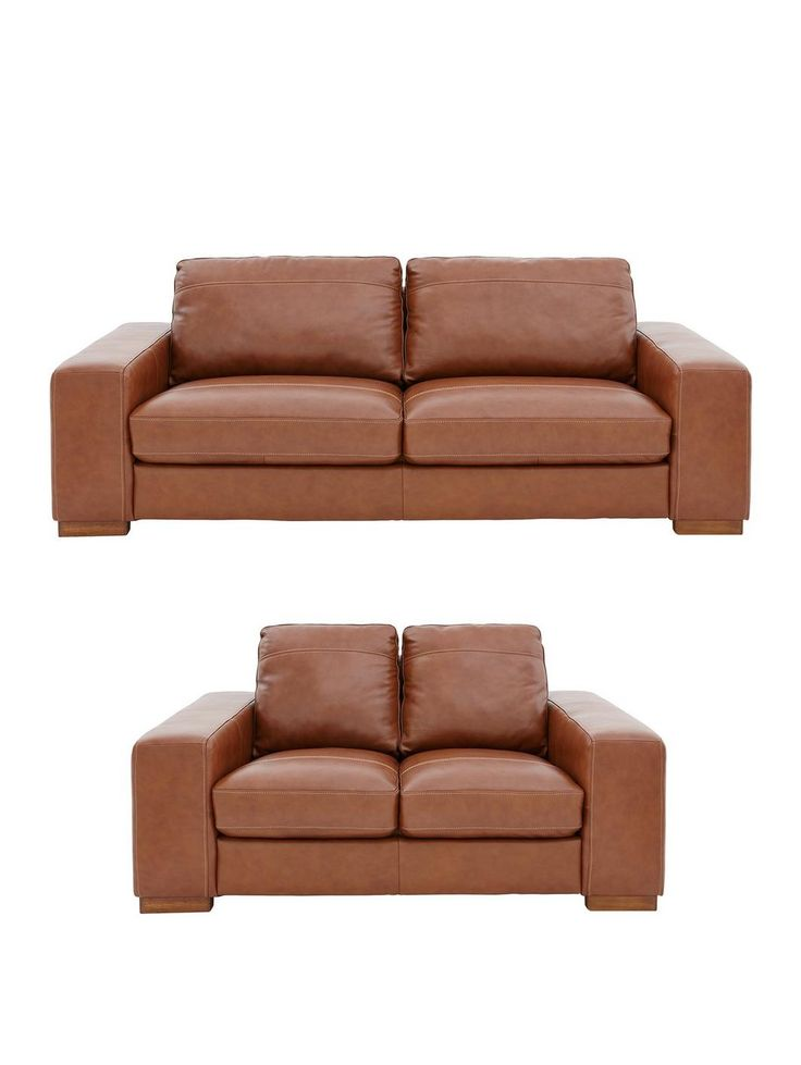 Clyde 3-Seater + 2-Seater Premium Leather Sofa Set (Buy And SAVE!)