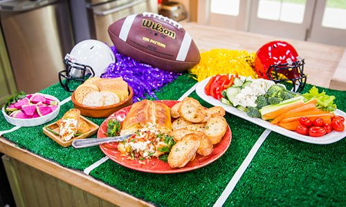Make Chef @MelissadArabian's #Superbowl Bacon Ranch Cream Cheese Wellington #HomeandFamilyTV