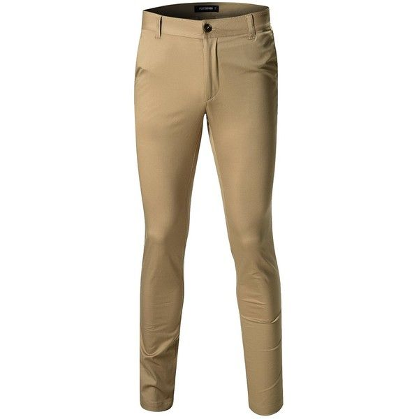 FLATSEVEN Mens Casual Chino Pants Slim Fit ($40) ❤ liked on Polyvore featuring men's fashion, men's clothing, men's pants, men's casual pants, mens slim fit chino pants, mens chino pants, mens wide leg pants, mens chinos pants and mens slim pants