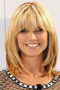 Famous Emo Hairstyle: Heidi Klum hair