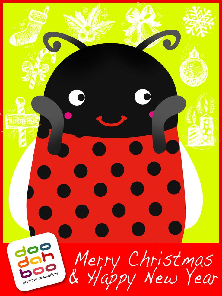 Ladybird Christmas Greetings Card