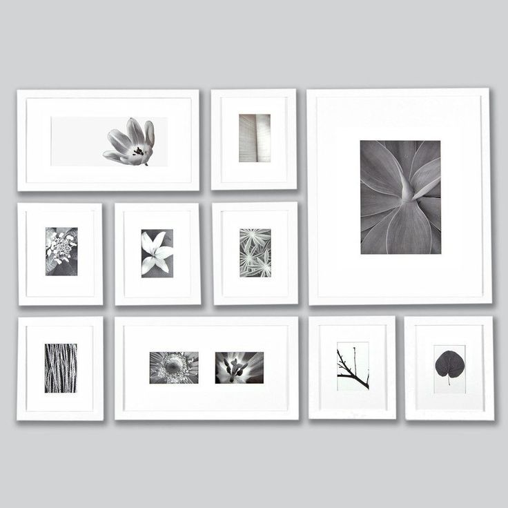 White 1 Inch Perfect Picturewall Gallery Frame Set W Hanging