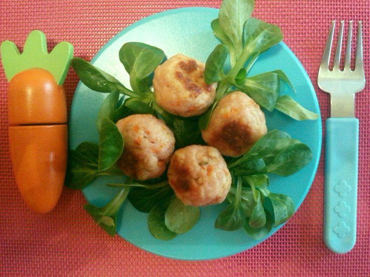 Polpette di tacchino e carote al forno