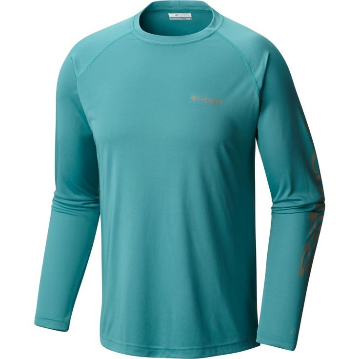 Columbia Men's PFG Terminal Tackle Long Sleeve Shirt, Size: 2XL, Blue/Kettle Logo