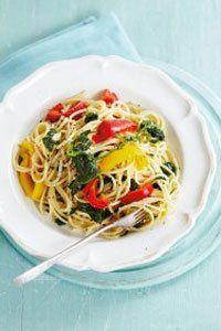 Vegetarian? You'll love this veggie pasta. #food #spaghetti #recipe