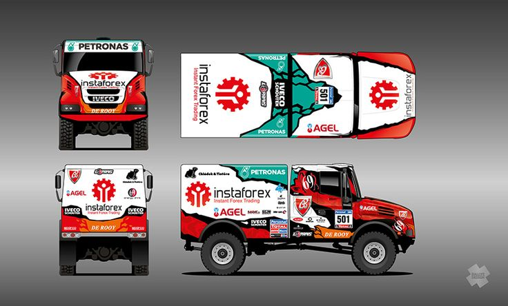 Instaforex Loprais Team De Rooy - Aleš Loprais (Iveco PowerStar 4x4 offroad) - design for Dakar 2016