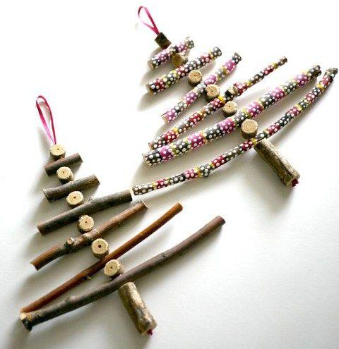 Kerstboompjes van takjes
