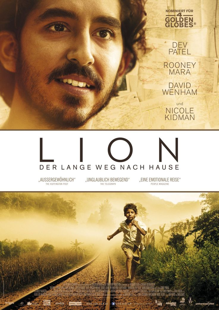 Lion, Ein Film von Garth Davis mit Dev Patel, Rooney Mara. Übersicht und Filmkritik. Mit fünf Jahren wird der kleine indische Junge Saroo (Sunny Pawar) von seiner Familie getrennt, woraufhin er sich schließlich tausende Meilen von Zuhause entfernt und verwahrlost in Kalkutta wiederfindet. Nach dieser beschwerlichen Odyssee nehmen ihn...