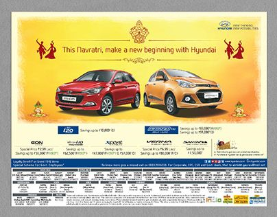 "Check out new work on my @Behance profile: ""Hyundai News Paper Print Ad, Delhi, …"