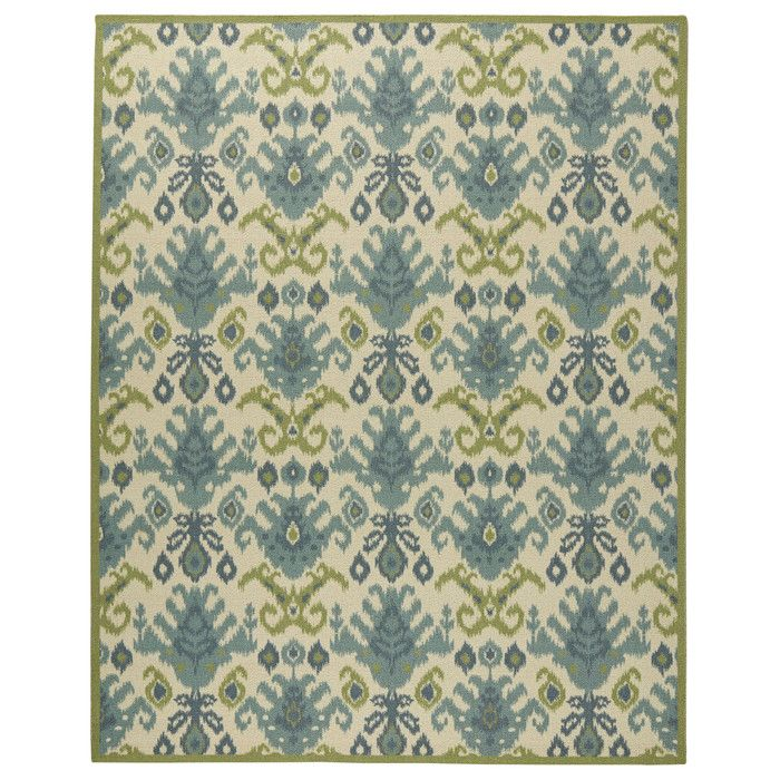 Wade Logan Blair Ivory & Green Area Rug & Reviews | Wayfair