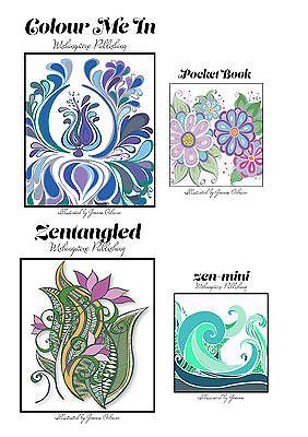 Colouring In Books - All 4 of my new books