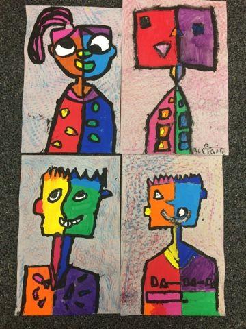 First Grade Picasso Portraits