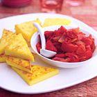 Een heerlijk recept: Polenta uit de oven met pittige relish