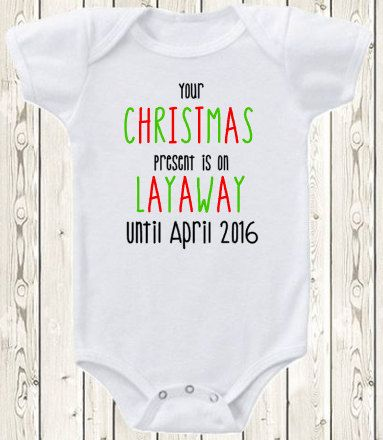 Christmas Pregnancy announcement idea ONESIE ® brand bodysuit or shirt pregnancy reveal for grandma, grandpa, grandparents, aunt, uncle This