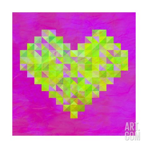 Neon Valentines Giclee Print by Fimbis at Art.com  #fimbis #eastendprints #onceuponatime #fairytale #pink #style #styleblog #fashion #fashionblogger #fashionblog #styleblogger #heart #designer #green #purple #love #valentinesday #magical #stars #twinkle #fblogger #pixel #homedecor #homestyle #wallart #interiors #interiordesign #homedesign