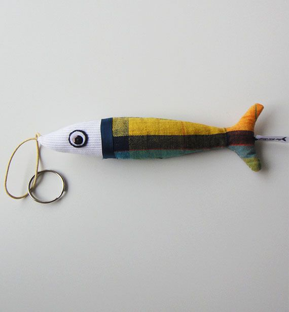 Porte clé sardine, parfum lavande : Porte clés par be-sardine