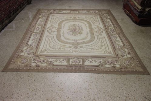 GROOT Aubusson tapijt 310 x 245 cm (Frans kleed) Kelim