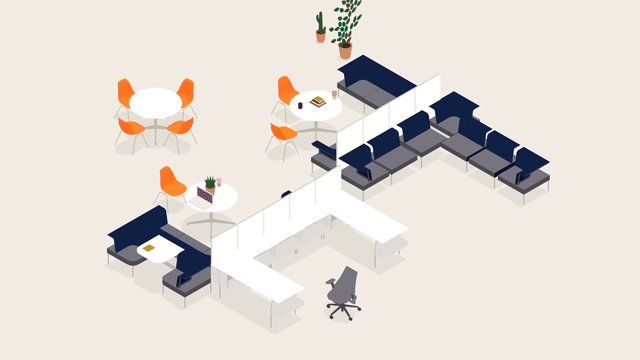 An animation demonstrating the adaptability of Herman Miller's Living Office furniture systems, showcased at NeoCon 2014, the Westminster of conventions for commercial interior design.   Client: Herman MIller Animation/Design: Josh Parker, James Bartley Music and Sound Design: YouTooCanWoo